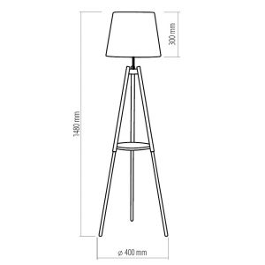 TK LIGHTING LOZANO 1092 ecru Stojanová lampa